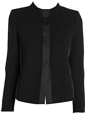 Giorgio Armani Women's Ottoman Stretch Cropped Collar Jacket