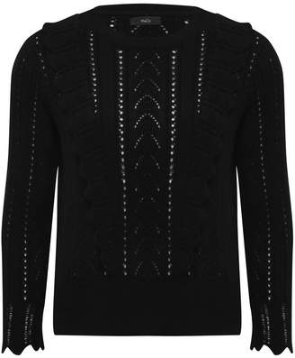M&Co Frill pointelle jumper