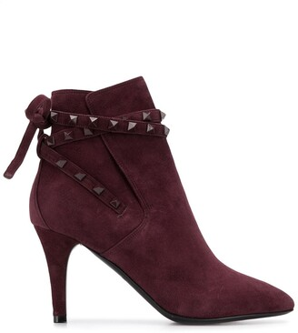 Valentino Rockstud tie ankle boots