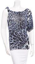Roberto Cavalli Silk Leopard Blouse