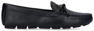 Prada Logo Bow Detail Loafers