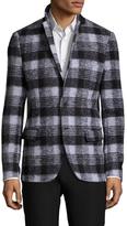 Antony Morato Wool Checkered Notch Lapel Sportcoat