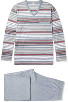 Zimmerli Striped Cotton-Jersey Pyjama Set