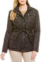Pendleton Quilted Nylon Snap Pocket Belted Coat