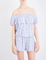 Eberjey Timba off-the-shoulder jersey playsuit