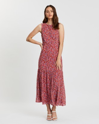 Atmos & Here Kelly Printed Maxi Dress