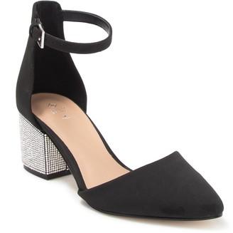 Call it SPRING Yuliya Embellished Block Heel d'Orsay Pump