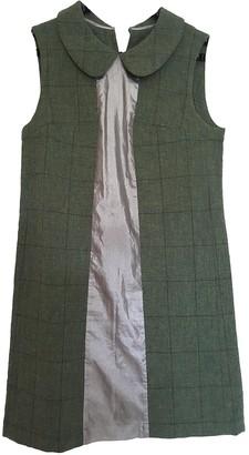 Comme des Garcons Green Wool Dress for Women