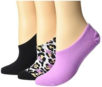 Converse Heritage Leopard + Stars 3-Pair Pack MFC (Leopard/Peony/Black) Women's Crew Cut Socks Shoes