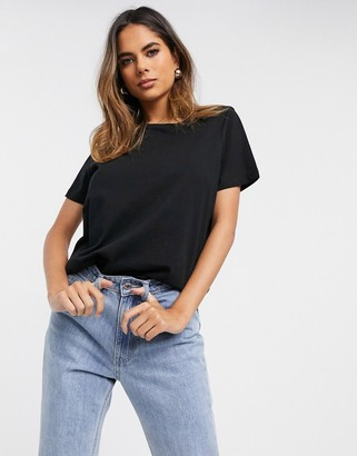 ASOS DESIGN Fuller Bust ultimate organic cotton crew neck t-shirt in black