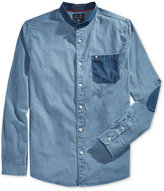 GUESS Men's Long-Sleeve Dobby Pocket & Patch Shirt