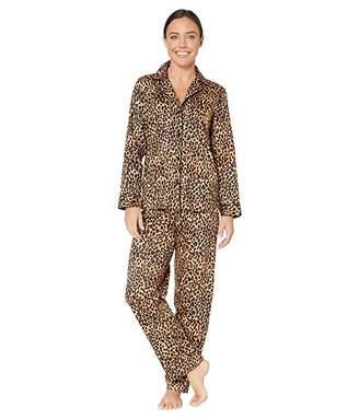 Lauren Ralph Lauren Classic Sateen Long Sleeve Notch Collar Long Pants Pajama Set