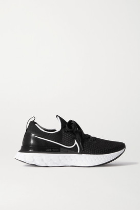 Nike React Infinity Run Flyknit Sneakers - Black