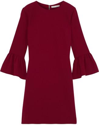 Alice + Olivia Coley Ruffled Crepe Mini Dress