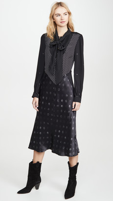 Coach 1941 Mixed Dot Bow Dress