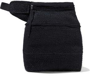 Rick Owens Fertility Felt-trimmed Brushed-woven Belt Bag