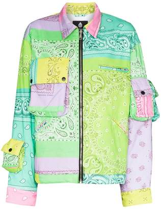 Natasha Zinko Bandana Print Patch Jacket