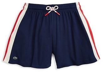 Lacoste Little Girl's & Girl's Side-Stripe Cotton Shorts