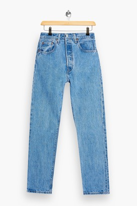 Levi's Womens 501 Mid Blue Jeans By Mid Blue