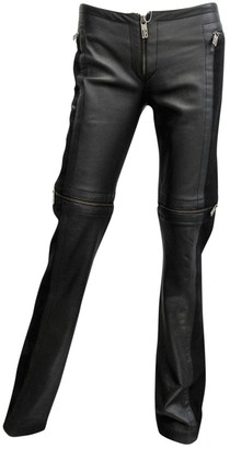 Dirk Bikkembergs Black Leather Trousers