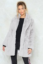 Nasty Gal Surfin' Bird Faux Fur Coat