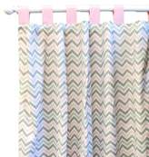 New Arrivals Inc. New Arrivals Peace Curtain Panels, Love Pink