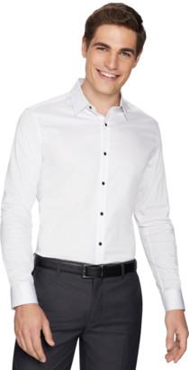 yd. White Hutton Slim Fit Dress Shirt