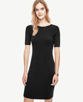 Ann Taylor Petite Extrafine Merino Wool V-Back Sweater Dress