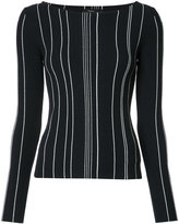 Theory line knit jumper - women - Polyester/Viscose - S