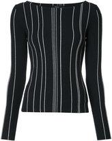 Theory line knit jumper - women - Polyester/Viscose - XS