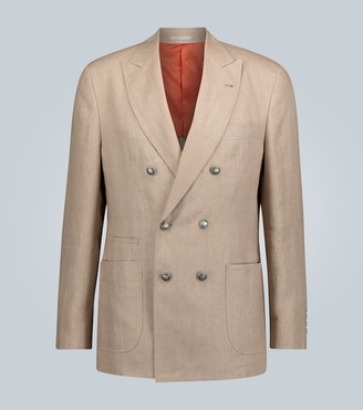 Brunello Cucinelli Linen double-breasted blazer
