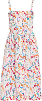HVN Candy Laura Printed Knee-Length Dress