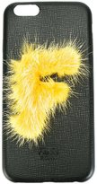 Fendi 'ABCover F' iPhone 6 hard case - women - Calf Leather/Mink Fur - One Size