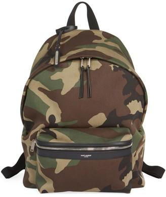 Saint Laurent Camo Backpack