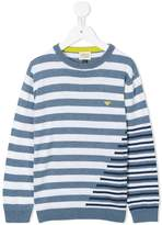 Armani Junior stripped knitted sweater