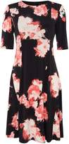 Ellen Tracy Short sleeve floral print dress