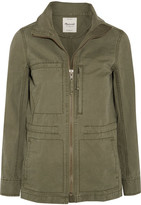 Madewell Fleet Cotton-canvas Jacket - Army green