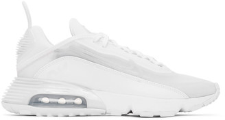 Nike White and Grey Air Max 2090 Sneakers