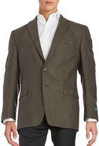 Lauren Ralph Lauren Two-Button Wool Tweed Jacket