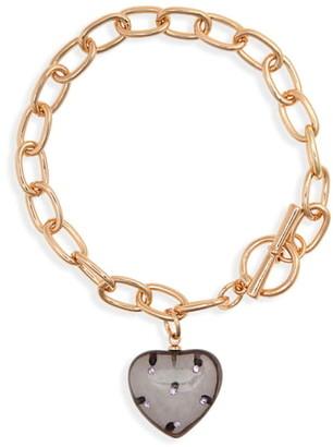 BP Resin Heart Toggle Bracelet