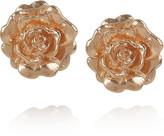 Alex Monroe 22-karat rose gold-plated flower stud earrings