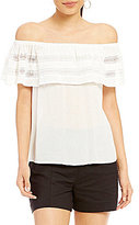 1 STATE Off-the-Shoulder Ruffle Blouse