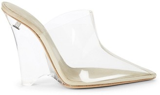 Yeezy Transparent Wedge Mules