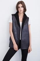 Marlowes Reversible Metallic Sherpa Vest