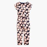 J.Crew Girls' drapey jumpsuit in heart print