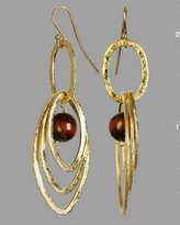 tiger's eye multi-hoop earrings