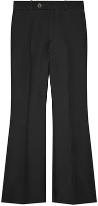 Gucci Wool silk cropped flare trousers