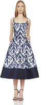 Theia 882883 Batik Print Tea Length Dress