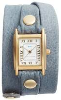 La Mer Women's Leather Wrap Strap Watch, 22Mm