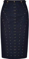 Tamara Mellon Studded stretch-denim skirt